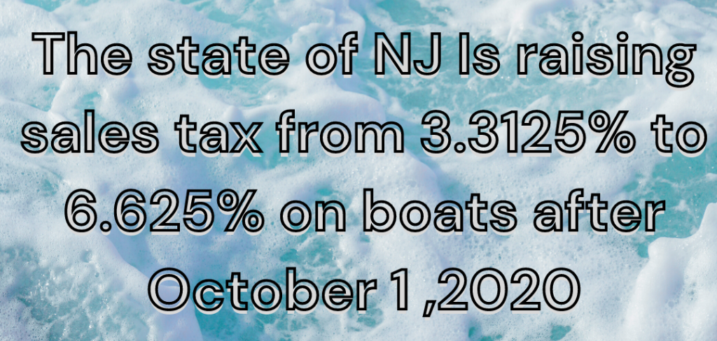 NJ Boat taxes message