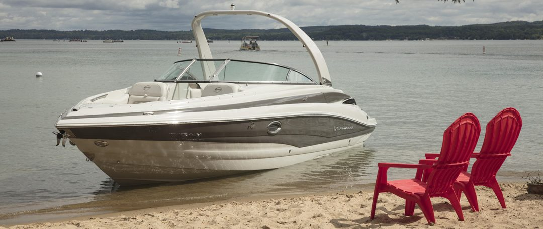 Boat at shoreline